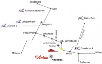 how to travel to St. Anton/Arlberg