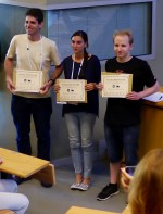 SHIM-ICACS Poster Prize for Sascha Creutzburg (on the right)