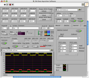 A screenshot of the measurement control software