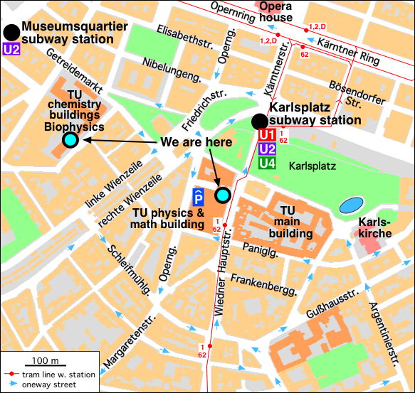 Map of our institute's surroundings