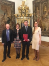 Steven, Christine, Gareth, and Elena Parkinson at the Palace of the Austrian Arch Bishop