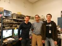 Gareth, Zbynek and Juan in LBNL.
