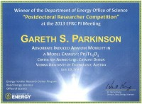 Winner certificate for Gareth Parkinson