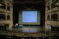 Ulrike Diebold giving a plenary talk at the ECOSS-28 in Wrocław